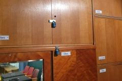 Oprava skříněk a montáž zámků (3. 1. 2020)